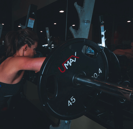 lady with weights